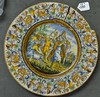 Large Ceramic Plate – depicts King David playing h, H. King, £30