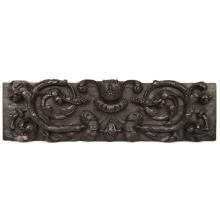 Architectural Salvaged Carved Oak Italian Panel of Fruits, 18th Century