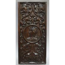 Antique 18th century Carved Oak French Renaissance style Architectural Salvaged Panel