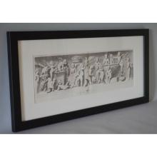 Framed Antique Engraving Frolicking Cherubs / Putti, Sandrart Galleria V. Giustiniani