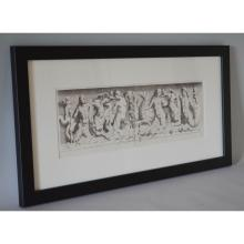 Framed Antique Engraving Mythological Figures & Cherubs, Sandrart Galleria V. Giustiniani