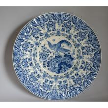 Stunning Large Hand Painted Blue & White Delft Plate Charger by Ram, A Peeters