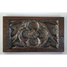 Superb Antique 18th century French Carved Oak Gothic style Architectural Panel