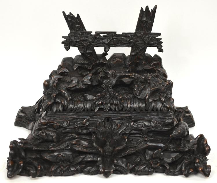 Fine Antique Black Forest Carved Jewelry Box