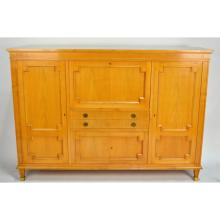 French Directoire style Mid Century Modern Bar Desk Bookcase Cabinet