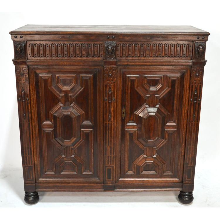 Dutch Inlaid Exotic Veneer Ebonized Buffet, 18th century