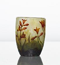 Daum Nancy Miniature French Art Glass Cameo Vase