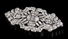 Art Deco 5.4 Carat Diamond & Platinum Clip Brooch