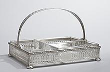 Art Deco Gorham Sterling Silver Handled Basket