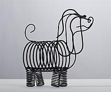 Frederick Weinberg Wire Dog Figural Letter Rack