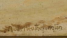A Heatherington Western Painting Newcomb Macklin