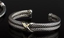 David Yurman14K Gold Sterling Bracelet & Necklace