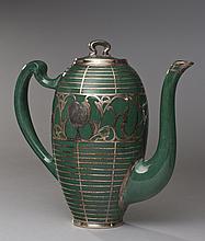 Art Deco Lenox Sterling Overlay Tea Coffee Set (4)