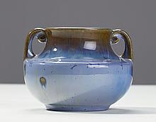 Fulper Pottery Crystalline Blue Cabinet Vase