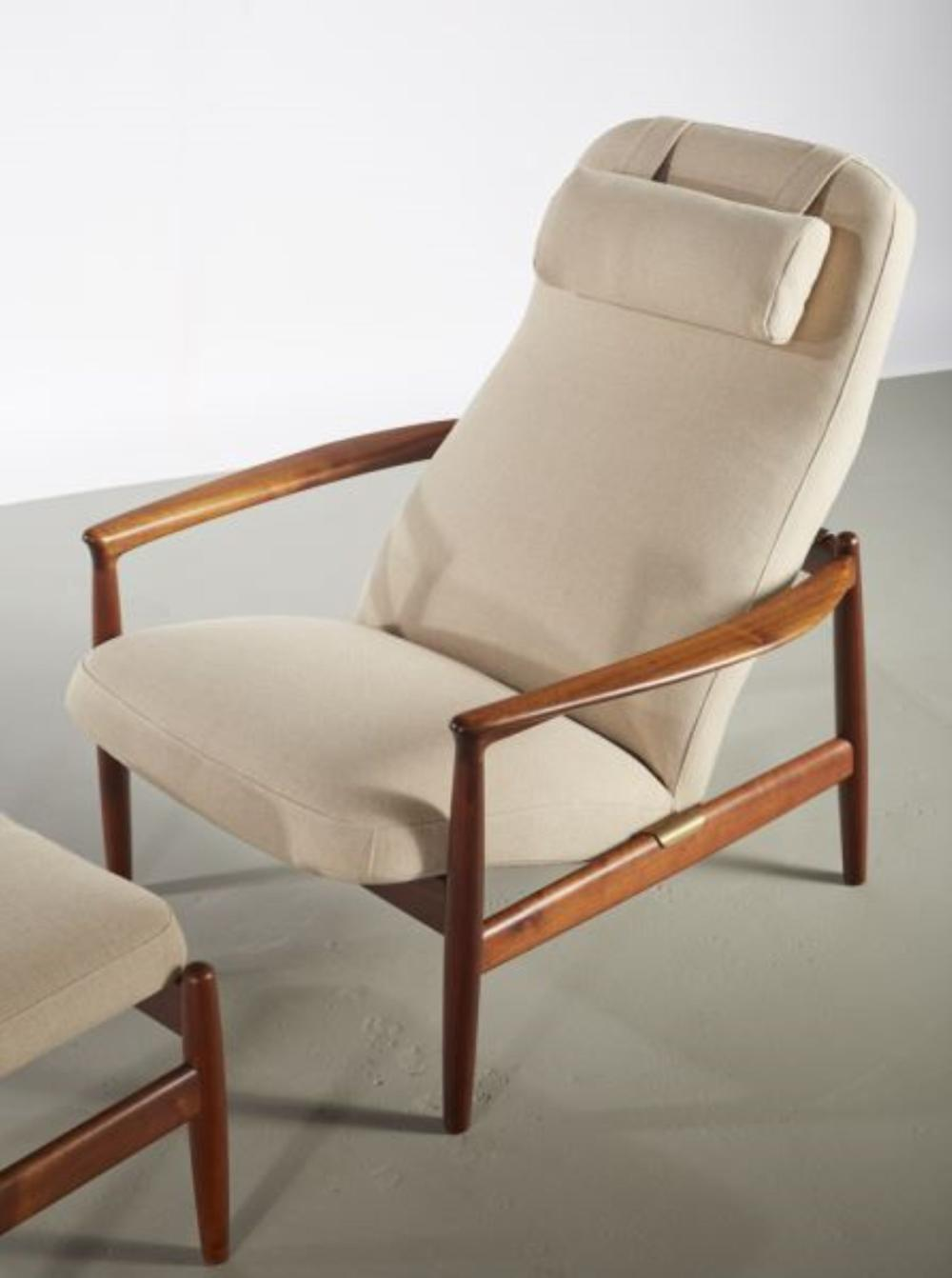 Astounding Folke Ohlsson Danish Teak Lounge Chair And Ottoman Pabps2019 Chair Design Images Pabps2019Com
