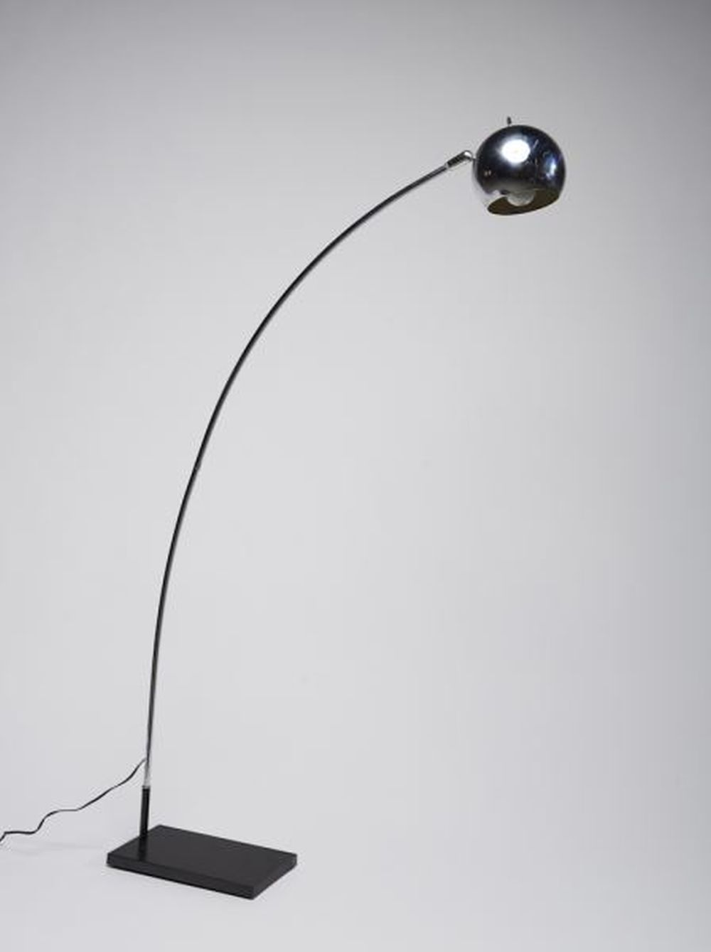 Lot Mid Century Modern Chrome Steel Arc Floor Lamp