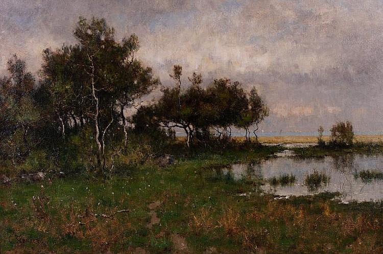 Camille Bernier (1823-1903) French Landscape Oil