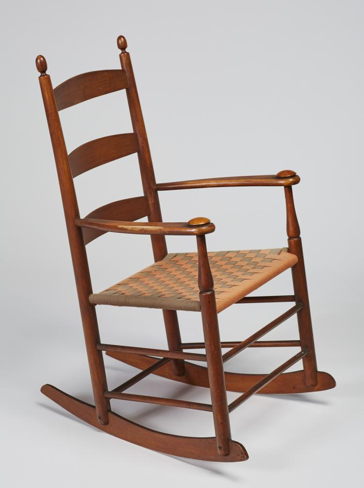 Signed Shaker Rocking Chair With Arms #5
