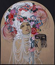 Conant, Homer (American, 1887-1927) Original 1923 - Theatre Magazine - Cover Art Painting