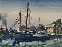 DiGemma, Joseph (American, 1910-2005) S.S. Blackman at Dock - 1949 Painting