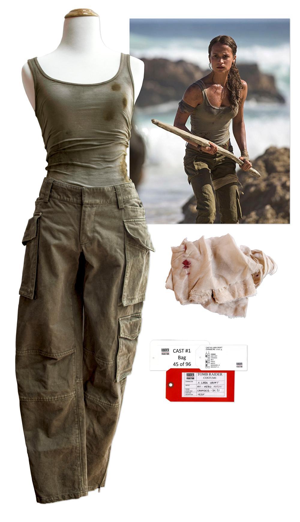 Alicia Vikander Worn Lara Croft Tomb Raider Costume Coa