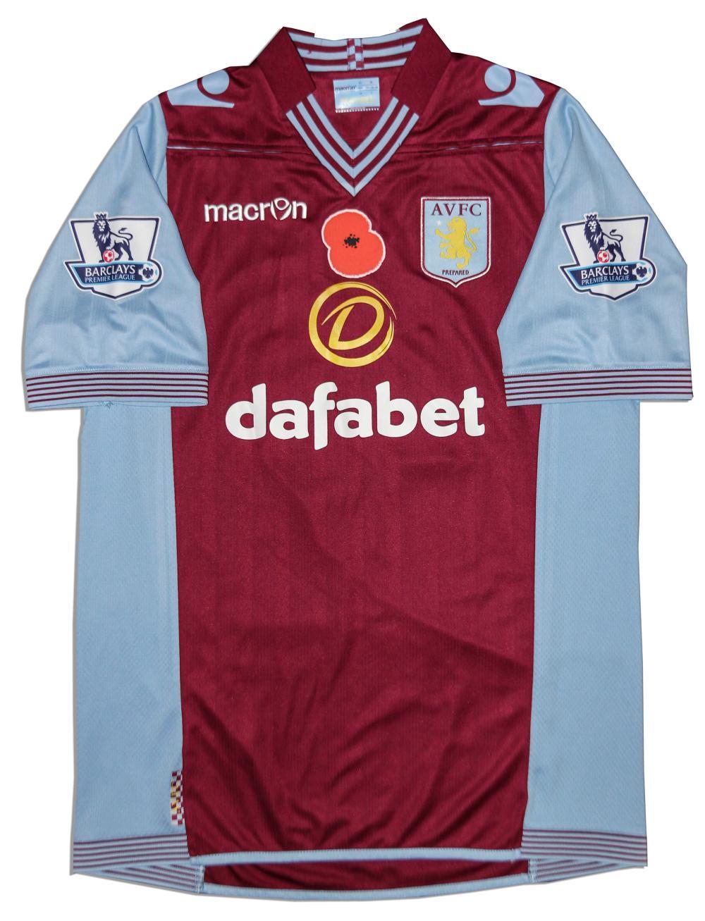 buy online 8570b 1c00a Aston Villa Jersey Worn & Signed By Chris Herd COA