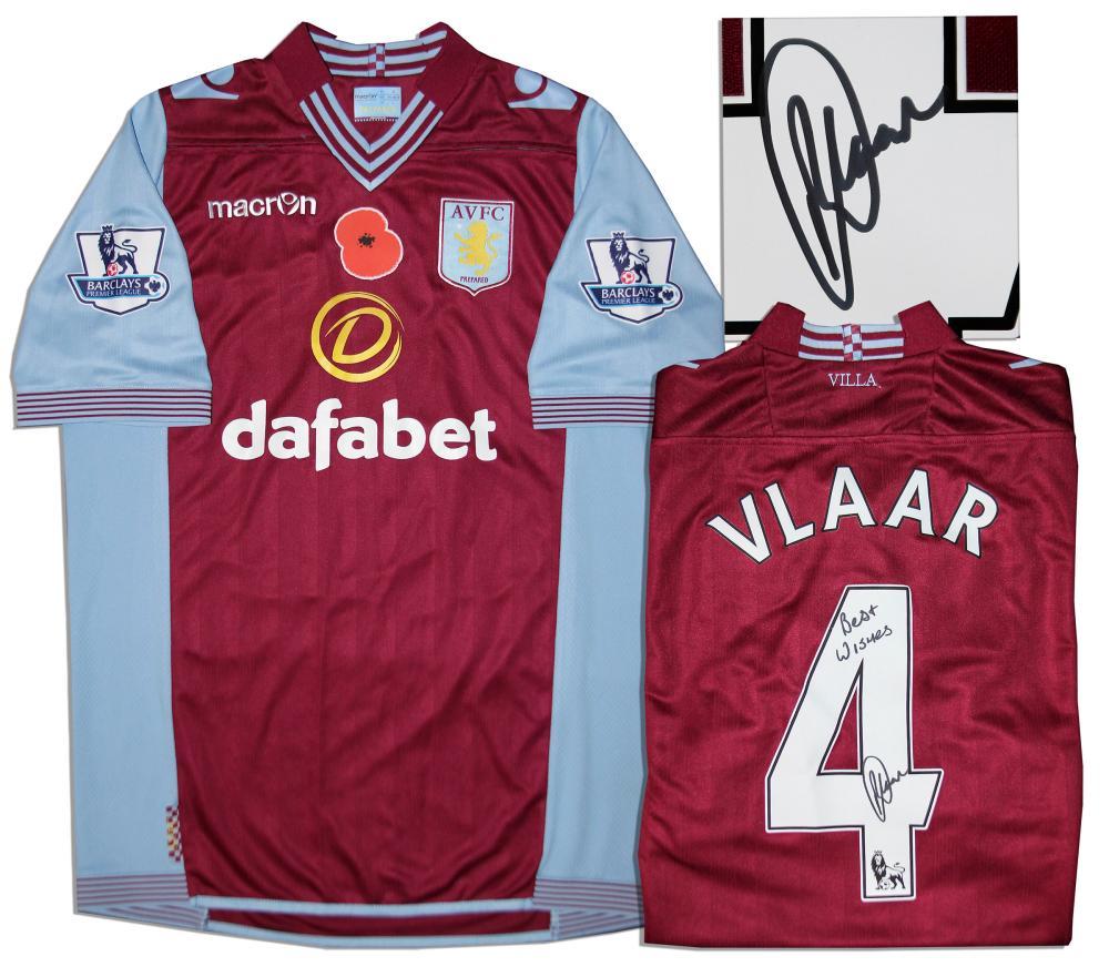 half off 95520 c4be1 Aston Villa Jersey Worn & Signed By Ron Vlaar COA