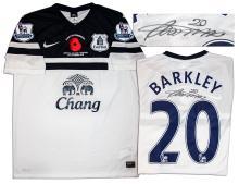 Ross Barkley Match Worn Everton Football Shirt COA 1c0c1d8cd