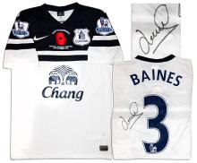 Leighton Baines Match Worn Everton Football Shirt COA af79abf96