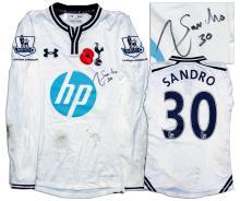 Sandro Match Worn Tottenham Hotspur Football Shirt COA 76c2e2785