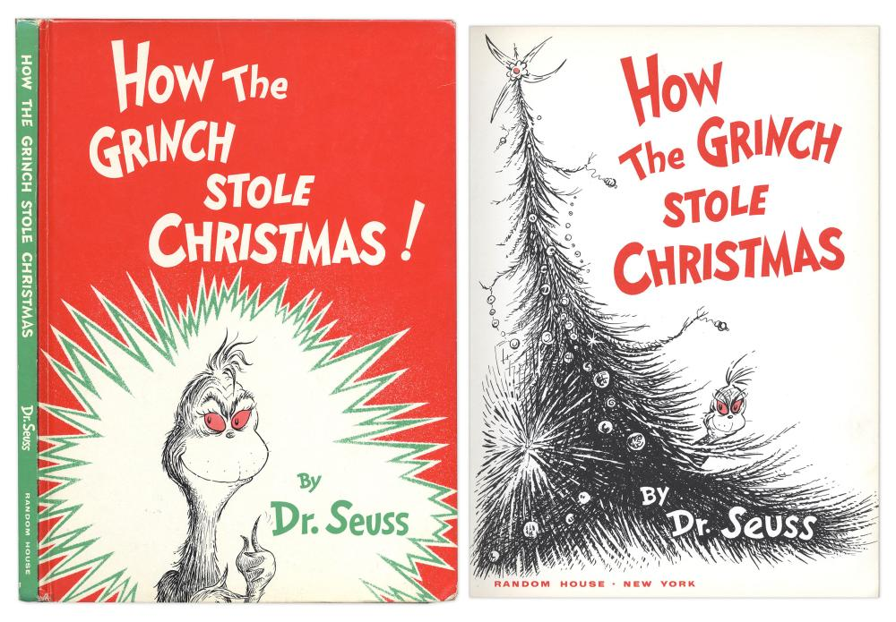 How The Grinch Stole Christmas Book Cover.Dr Seuss How The Grinch Stole Christmas 1st Edition