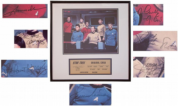 Star Trek Crew Signed Photo