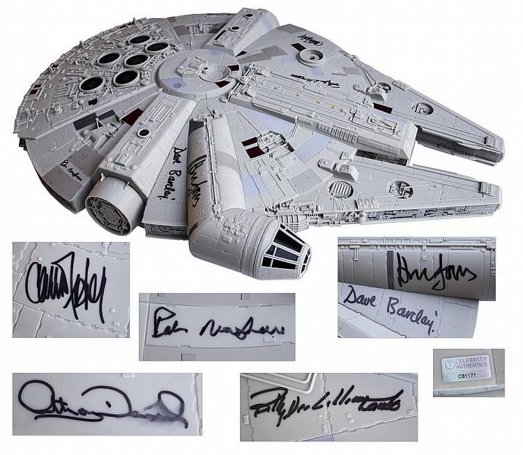 Star Wars Cast Signed Millennium Falcon