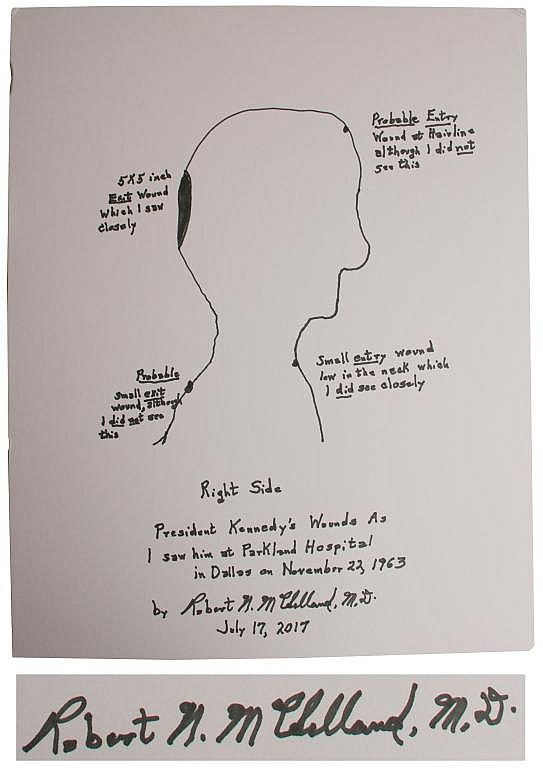Dr. Robert McClelland Signed Sketch of John F. Kennedy