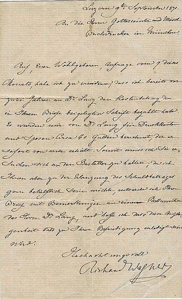 Richard Wagner ALS 1871