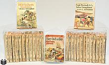 28V Oliver Optic ANTIQUE JUVENILE SERIES DIME & PULP NOVELS c1900-1930 Sports Western Mystery Adventure Yale Professor's Son American Indian Burt L Standish Horatio Alger Baseball Canoeing Dick & Frank Merriwell Jr