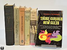 6V Signed Petersen Yambura COLLECTIBLE UTOPIAN LITERATURE & MYSTICISM Vintage Henry Gross Dowsing Rod Webber Socialism Dust Jackets