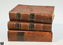 3V Lincoln Connecticut ANTIQUE LEATHERBOUND AMERICAN HISTORY New Haven Colonial Engraved Plates Amherst Nathan Hale