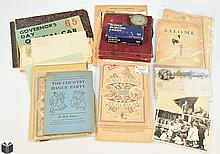 23Pcs Charles Lindbergh VINTAGE & ANTIQUE ESTATE EPHEMERA & COLLECTIBLES World's Columbian Exposition Voltometer Shick Injector Razor Almanac Postcards Sheet Music Boston Arts Festival