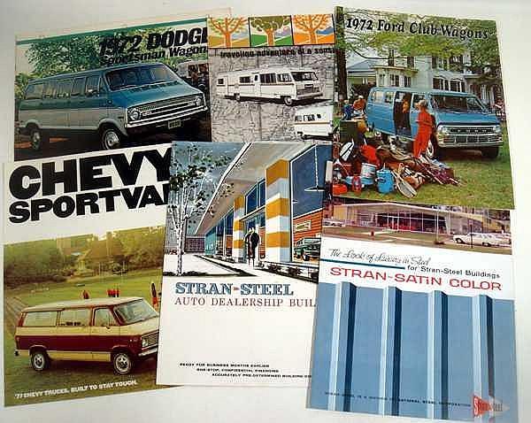 Lot 3027: Dodge Chevrolet VINTAGE/ANTIQUE AUTOMOTIVE EPHEMERA Ford Lawrence Welk Postcards Advertisement Outdoors Campers Ouachita Permits Road Rules