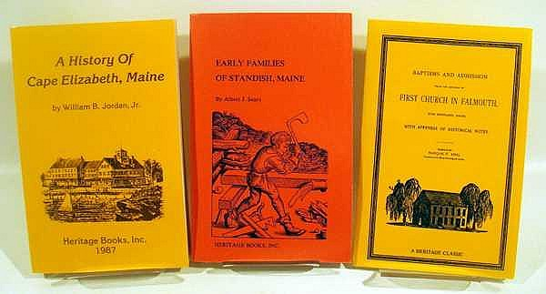 Lot 3025: 11V Penobscot Pioneers HISTORY AND GENEALOGY OF THE STATE OF MAINE North Yarmouth Cape Elizabeth Early Families Standish Baptisms Admission Falmouth Church County Lawrence Michaels Alley Bakeman Smart Bray Closson Howard Bunker Pendleton Pomeroy