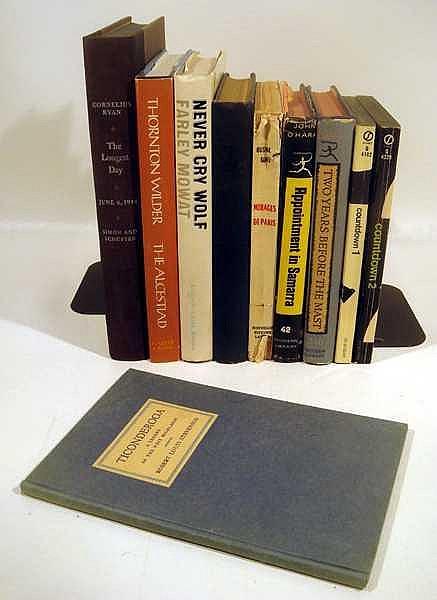 10V Vintage Antique COLLECTIBLE LITERATURE Woolf Early Printing Stevenson Countdown O'Hara Samarra Dana Wilder Paris Khalam Mowat Ryan Dust Jackets