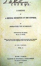 Lot 3092: 4V Alexander Von Humboldt COSMOS A SKETCH OF A PHYSICAL DESCRIPTION OF THE UNIVERSE 1850-1852 Antique Treatise Natural Science