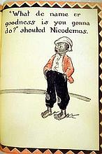 "Lot 3090: Inez Hogan NICODEMUS AND PETUNIA 1937 First Edition Vintage Children's Literature ""Negro Dialect"" African-American Characters Decorative Binding"