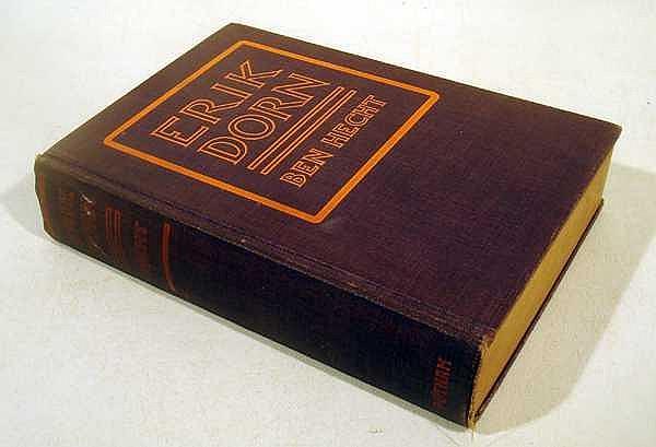 Ben Hecht ERIK DORN 1921 Author-Signed First Edition Antique Debut Novel American Literature