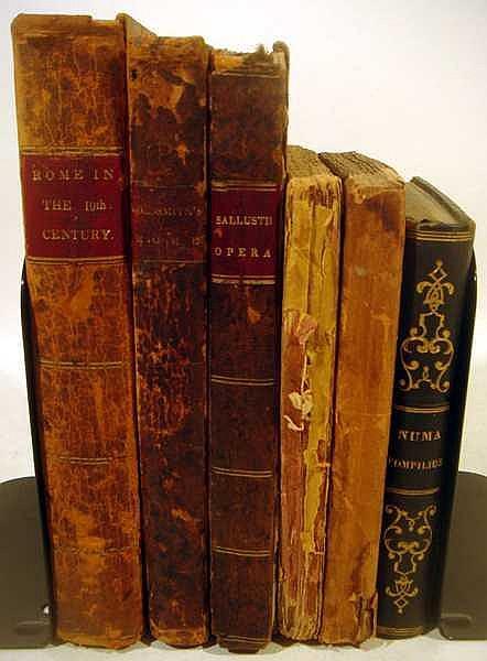 6V Sallustii Opera ANTIQUE LATIN LITERATURE & HISTORY OF ROME Goldsmith 19th Century Florian Numa Pompilius Italian Paul et Virginie
