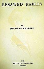 """Lot 3061: Douglas Malloch RESAWED FABLES 1911 Author-Signed First Edition Antique Short Story Chicago """"Lumberman's Poet"""" American Literature"""