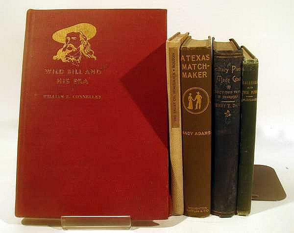5V Adams Texas Matchmaker McLemore Indianola ANTIQUE ESTATE BOOKS Buffalo Bill Davis Solitary Places Nebraska Horseback Padre