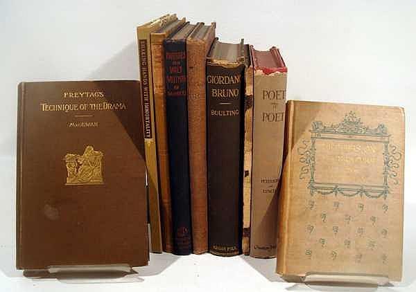 9V Whitman Parodies Starrett VINTAGE & ANTIQUE BOOKS ON BOOKS & LITERARY HISTORY Jurgen Censor Giordano Bruno Ewing Victor Hugo