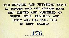 Lot 3156: 9V Whitman Parodies Starrett VINTAGE & ANTIQUE BOOKS ON BOOKS & LITERARY HISTORY Jurgen Censor Giordano Bruno Ewing Victor Hugo